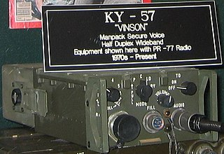 KY-57 portable, tactical cryptographic device