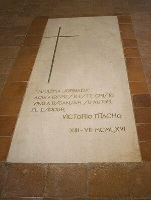 Cristo del Otero - Tombstone of Victorio Macho