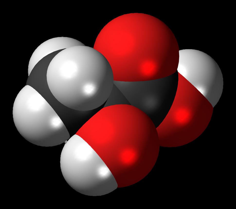L-Lactic acid molecule spacefill