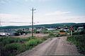LOOKING BACK TOWARDS OLD ANGLICAN SCHOOL ROOMS 27TH JULY 2002 Port Hope Simpson Off The Beaten Path Llewelyn Pritchard.jpg