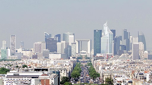 La Défense from the Arc de Triomphe, 4 May 2011