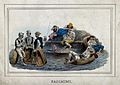 Labourers resting and chatting; in the central background a Wellcome V0019974.jpg