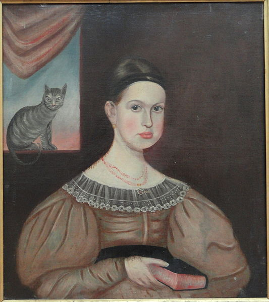 File:Lady with Cat, attributed to Aaron Dean Fletcher, undated - Museum of Fine Arts, Springfield, MA - DSC04018.JPG