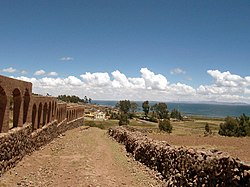 Lake Titicaca as seen from Chucuito
