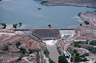 Lahontan Dam - The Lahontan Dam on the Carson River in the state of Nevada.