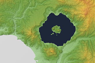 Mount Usu - Image: Lake Tōya 3D 2012