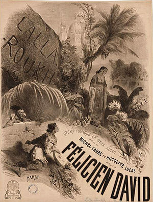 Lalla-Roukh - Poster by Célestin Nanteuil for the premiere of Lalla-Roukh