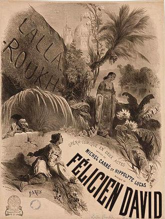 Lalla-Roukh - Poster by Célestin Nanteuil for the premiere of Lalla-Roukh
