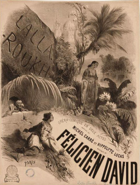 Lalla-Roukh by David, Opéra Comique poster 1862