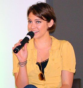 Lauren Cohan, interprète de Bela Talbot dans Supernatural, en 2011.