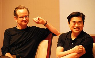Lawrence Lessig - Lessig with fellow Creative Commons board member Joi Ito