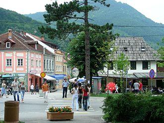 Ivanjica - Image: Le centre ville d'Ivanjica