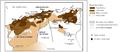 Le maghreb central sous suzerainté ottomane - Central maghreb under ottoman suzerainty.png