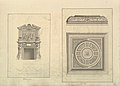 Leaf from Aedes Walpolianae mounted with two drawings- (a)- Hall Chimney-Piece, Houghton Hall, Norfolk; (b)- Hall Ceiling, Houghton Hall, Norfolk MET DP829093.jpg