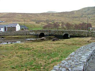 Leenaun - Leenaun old bridge about four months before it was washed away.