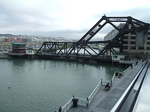 Lefty O'Doul Bridge - The bridge as seen from AT&T Park