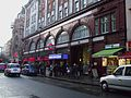 Leicester Square stn east entrance.JPG