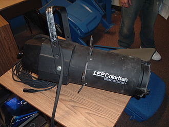 Ellipsoidal reflector spotlight - A Colortran ERS.