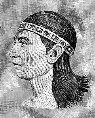 Lempira (Lenca ruler) - Drawing of Lempira (Lenca de Honduras)