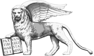 Lion of Saint Mark symbol of Mark the Evangelist