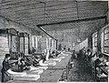 """Les merveilles de l'industrie, 1873 """"La salle, ou l'atelier de revoyage, de comptage, de pliage, de mise en presse et d'empaquetage au papier"""". (4727168892).jpg"""