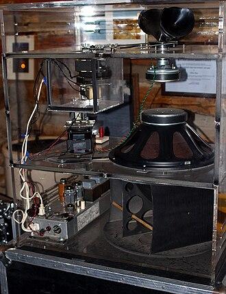 Leslie speaker - A Leslie speaker in a clear plastic cabinet