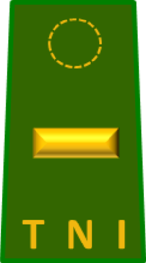 Second lieutenant - The Second lieutenant rank insignia of the Indonesian Army