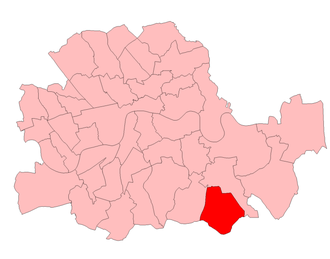 Lewisham South (UK Parliament constituency) - Lewisham South in the Parliamentary County of London 1950-74