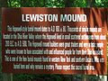 Lewiston Mound Sign Jun 09.JPG