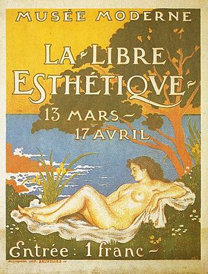 Georges Lemmen - Exhibition poster for La Libre Esthétique, Designed by Georges Lemmen, 1910