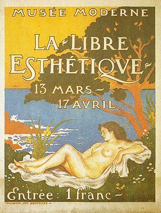 Georges Lemmen - Exhibition poster for La Libre Esthétique, Designed by Georges Lemmen, 1910
