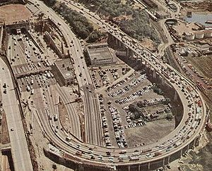 Lincoln Tunnel, New Jersey side approach and &...