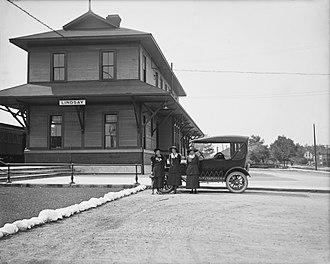 Lindsay, Ontario - Lindsay railway station in 1921