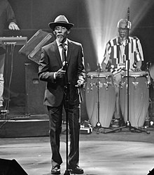 Linton Kwesi Johnson in concert in Brussels, 2017