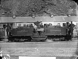 Little Wonder engine, Ffestiniog railway NLW3361254.jpg