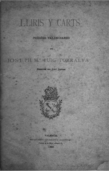 File:Lliris y carts - Poesíes valencianes (1899).djvu