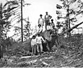 Loading crew with log rigged for dragging, camp 1, Coats-Fordney Lumber Company, near Aberdeen, ca 1920 (KINSEY 1906).jpeg