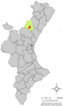 Localització de Cirat respecte del País Valencià.png