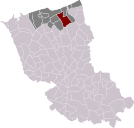 Téteghem in the arrondissement of Dunkirk