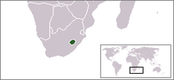 A map showing the location of Lesotho