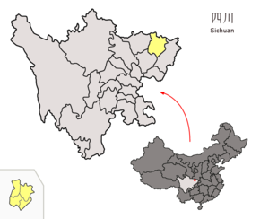 Location of Bazhong Prefecture within Sichuan (China).png