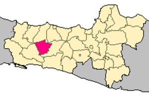 Purbalingga Regency - Image: Locator kabupaten purbalingga