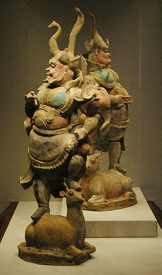 Lokapala - Statues of two Tang Dynasty Lokapala