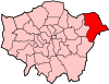 Location of the London Borough of Havering in Greater London