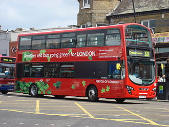 London Buses route 328 - First London Wright Gemini 2 HEV in May 2009