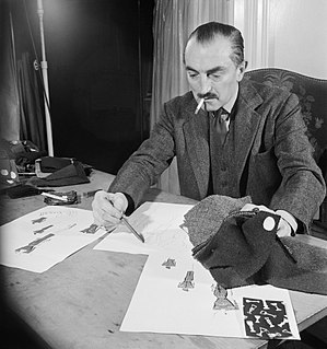 Peter Russell (fashion designer) - Peter Russell at work in 1944. source: IWM