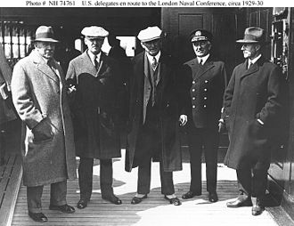 London Naval Treaty - Members of the United States delegation en route to the conference, January 1930.