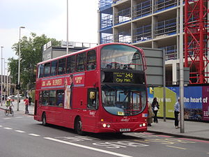 London Buses route 343 - Abellio London Wright Eclipse Gemini bodied Volvo B7TL in May 2014