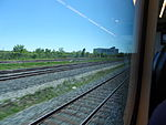 Looking out the left window on a trip from Union to Pearson, 2015 06 06 A (417) (18643963125).jpg