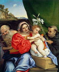 Virgin and Child with Saints Jerome and Nicholas of Tolentino